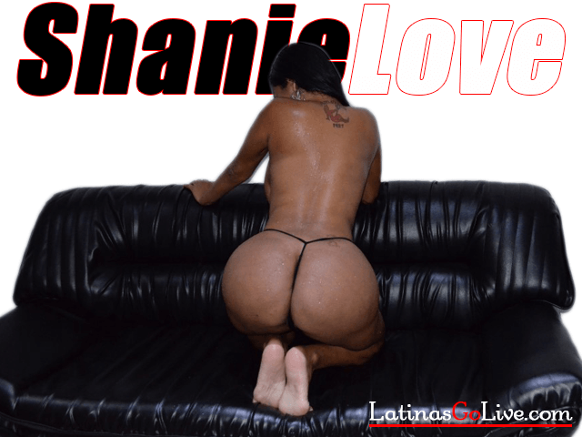 Shanie Love showing her latin bubble butt in micro thong