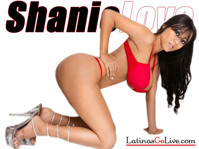 Shanie Love in ed lingerie